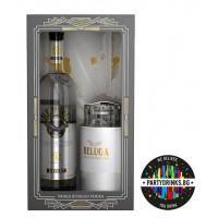 Beluga Noble Russian Vodka 1.0L + сет за хайвер 40%