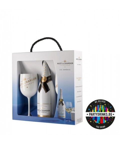 Шампанско Moet and Chandon Ice Imperial Brut + 2 glasses 750ml