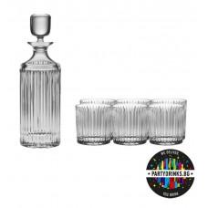 Комплект за Уиски Скайлайн - 6 чаши и гарафа