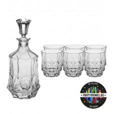 Комплект за Уиски Сохо - 6 чаши и гарафа