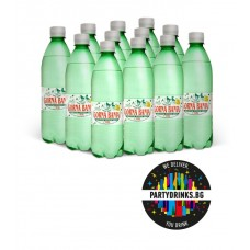 "Mineral sparkling water ""Gorna Banq"" box 12 pieces x 500ml"