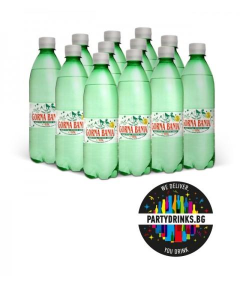 "Mineral sparkling water ""Gorna Banq"" box 12 pieces x 500ml"