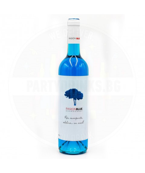 Синьо вино Pasion Blue Chardonnay 750ml 11%