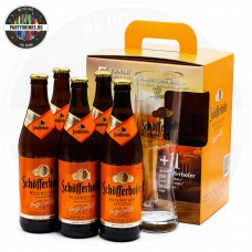 Бира Schofferhofer HEFEWEIZEN 500ml 5 бутилки 5% с чаша