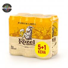 Бира Kozel Premium Lager кен 5+1 х 500ml 4.6%