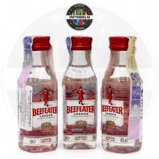 Джин Beefeater London Dry 50ml 40% 3 броя