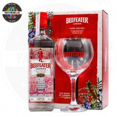 Джин Beefeater London Dry 700ml 40% с чаша