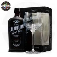 Джин Premium Colombian Aged Gin Dictador Treasure 700ml 43% с чаша