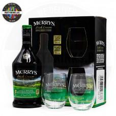 Ликьор Merrys Irish Cream 700ml 17% с 2 чаши