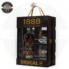 Ром Brugal 1888 700ml 40% в дървена кутия с 2 чаши