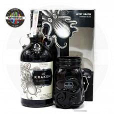 Ром The Kraken Black Spiced 700ml 40% с чаша