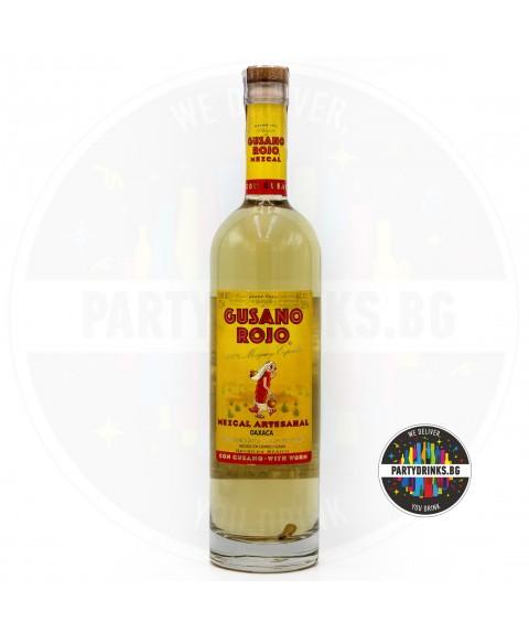 Текила Gusano Rojo Mazcal 700ml 38% с червей