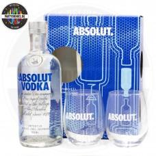 Водка Absolut Blue 700ml 40% кутия с 2 чаши