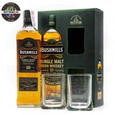 Ирландско уиски Bushmills 10 Years Old 700ml 40% с 2 чаши