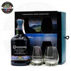 Ирландско уиски Connemara Distillers Edition 700ml 43% с 2 чаши