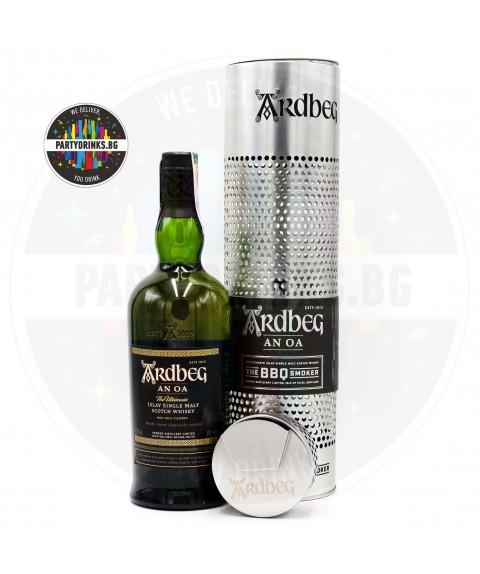 Уиски Ardbeg An Oa с подарък Smoker 700ml 46.6%