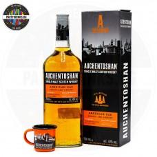 Уиски Auchentoshan American Oak Malt 700ml 40% с кутия с подарък чаша