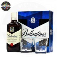 Уиски Ballantine's 700ml 40% с 2 чаши