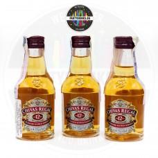 Уиски Chivas Regal 12 Years Old 50ml 40% 3 броя