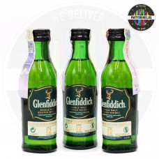 Уиски Glenfiddich 12 Years Old 50ml 40% 3 броя