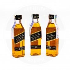 Уиски Johnnie Walker Black Label 12 Years Old 50ml 40% 3 броя