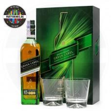 Уиски Johnnie Walker Green Label 700ml 43% с 2 чаши