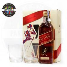 Уиски Johnnie Walker Red Label 700ml 40% с 2 чаши