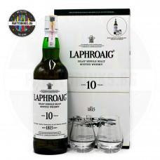Уиски Laphroaig 10 Years Old 700ml с 2 чаши