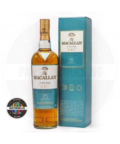 Уиски Macallan 15 Years Оld Fine Oak 700ml 43%