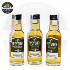 Уиски Speyburn 10 Years Old 50ml 40% 3 броя