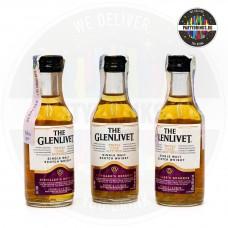 Уиски The Glenlivet Distillers Reserve Triple Cask 50ml 40% 3 броя