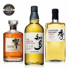 Японско уиски промо сет 3 бутилки Hibiki + The Chita + Toki
