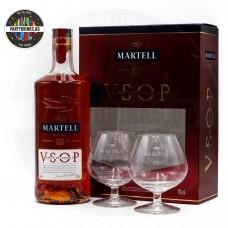 Коняк Martell VSOP 700ml 40% с 2 чаши