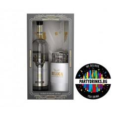 Beluga Noble Russian Vodka 0.7L + сет за хайвер 40%